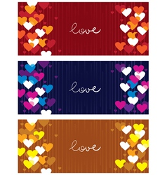 Horizontal love banners vector