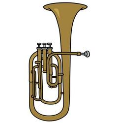 Classic brass bombardone vector