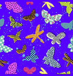 Abstract seamless pattern for girls clothes vector