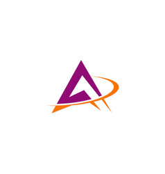 abstract triangle business logo vector image vector image