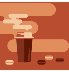 Background with coffee cup and macaroons vector