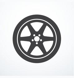 car wheel icon vector image