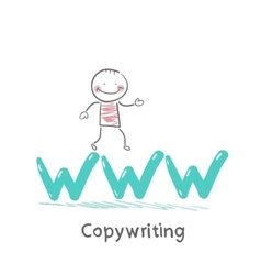 Copywriters is on the letters www vector