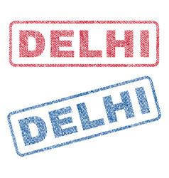 Delhi textile stamps vector