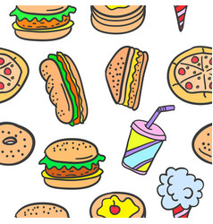 Doodle of food design style art vector