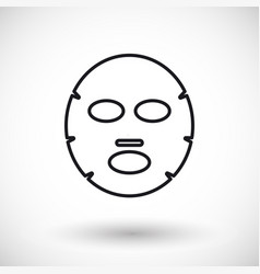 Facial mask thin line web icon vector