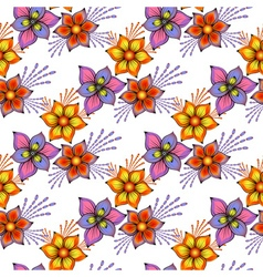 Floral seamless spring pattern vector image vector image