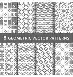 geometric pattern pack vector image vector image