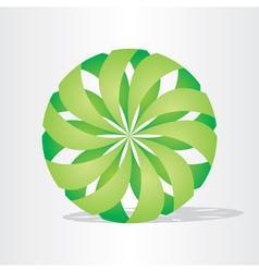 green eco ball design vector image vector image