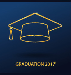 Icons graduation cap vector