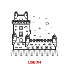 lisbon landmark vector image vector image