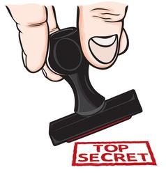 lupam pecat Top secret resize vector image vector image
