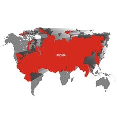 Map of russia design vector
