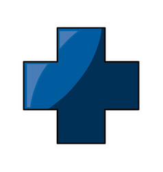 Medical cross symbol vector