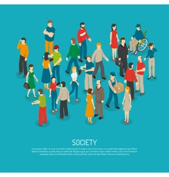 People Crowd Poster vector image
