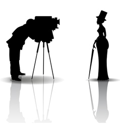 Photographer and model vector image