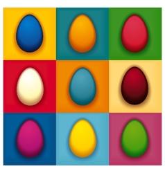 Pop art colorful eggs vector