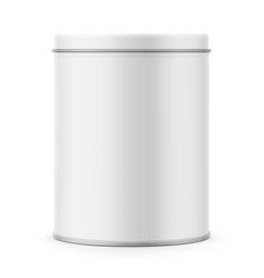 Round matte tin can template vector