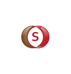 s letter circle logo vector image vector image