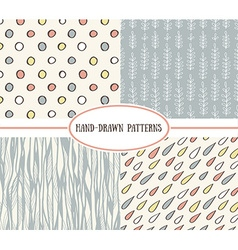 set of cute retro patterns vector image vector image