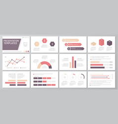 Set of red and purple elements for multipurpose vector