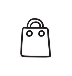 Shopping bag sketch icon vector
