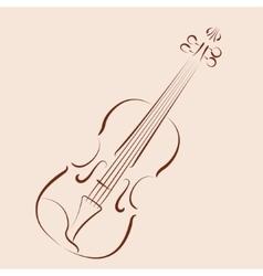 Sketched violin vector