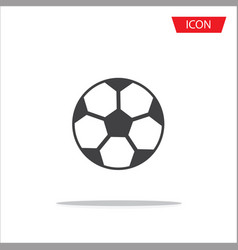 soccer ball icon football icon vector image