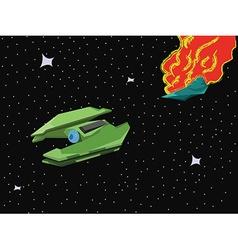 Spacecraft space blast vector