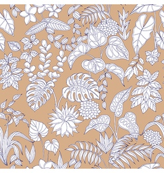 tropic pattern vector image