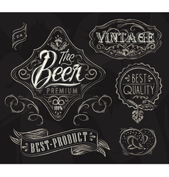 Vintage Elements for bar vector image vector image