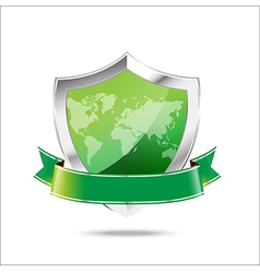 World map protection metal shield on the white vector