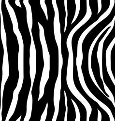 Zebra Stripes black white Seamless Pattern vector image vector image