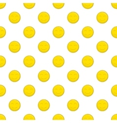 Smiley face pattern cartoon style vector