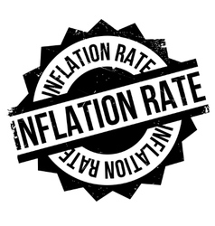 Inflation rate rubber stamp vector