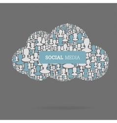 Social media conceptual vector
