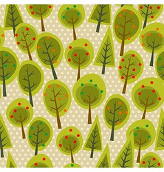 Cute seamless pattern forest vector