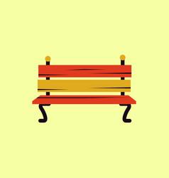 Park bench vector