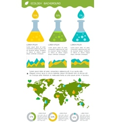 Flat infographic chemistry and environment vector