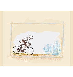 Cycling grunge poster template vector