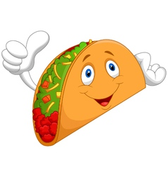 Taco cartoon giving thumb up vector