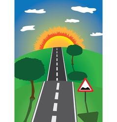 Road to the horizon vector