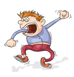 angry man vector image