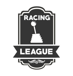Racing league design vector