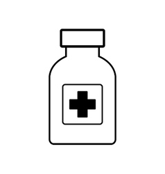 Medicine bottle on white vector