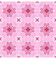 Pink abstract seamless ornamental vector