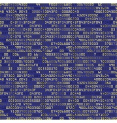 Blue security background with hex-code vector
