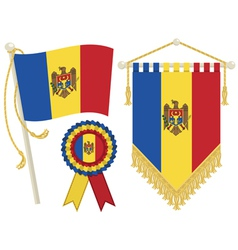 moldova flags vector image