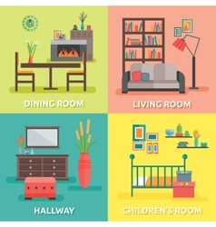 Interior colored compositions vector