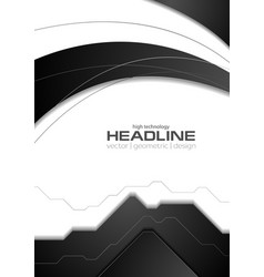 Abstract black white corporate flyer vector image vector image